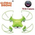 Gw009c global drone helicoptero rc dron con camara 2.4g 6 el Mini EJE DEL Dron Dron Con Cámara Profesional Drones Con HD cámara