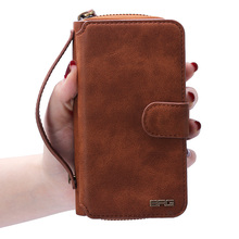 Portable Multifunctional Combo Zipper Case for Samsung Galaxy S7 Retro pattern wallet phone sets mobile phone