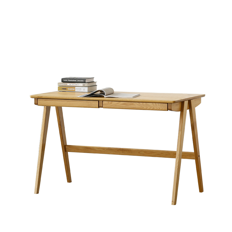 Louis Fashion Computer Table North European Real Wood Desk Office Bedroom  Oak Simple Japanese Style Drawer Writing Desk In Laptop Desks From  Furniture On ...