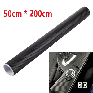 Carbon Fiber Car Film Sticker Matt Black Wrap 50x200cm Vinyl Replacement