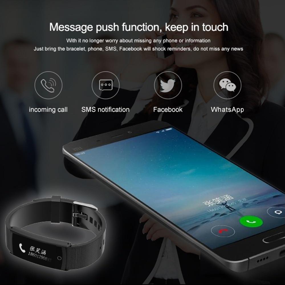 SOONHUA S6 Smart Bracelet Pedometer Heart Rate Blood Oxygen Blood Pressure Monitor Sleep Monitor Fitness Tracker Wristband Watch