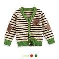 Envío de la Nueva Venta Caliente del otoño del bebé suéter cardigan raya 100% algodón suéter de los niños de ropa los niños ropa de Invierno