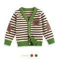 Free Shipping New Hot Sale  autumn baby sweater cardigan stripe 100% cotton children sweater for boys clothing clothes in Winter
