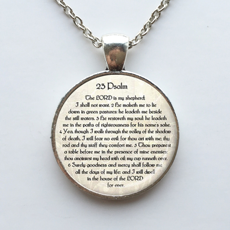 23. PSALM SCHMUCK Schrift Halskette Psalm 23 Halskette Bibel Vers - Modeschmuck - Foto 5