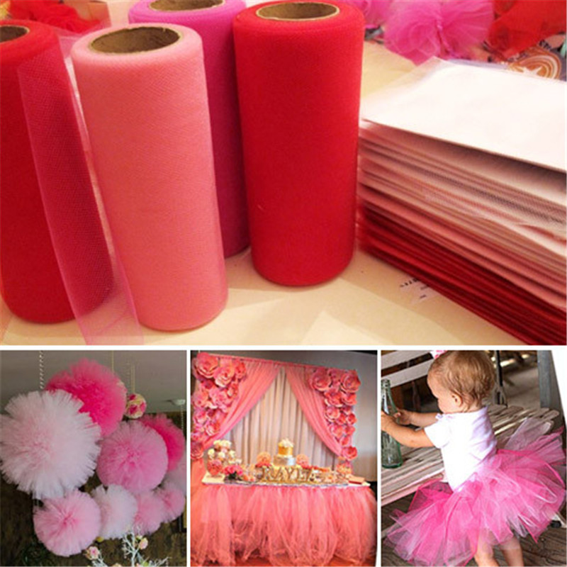 2019 New Style 15cm22m Baby Shower Tulle Roll Tutu Fabric Wedding Decoration Diy Organza Tutu Skirt Accessories Event Party Supplies 8zsh759 Home & Garden