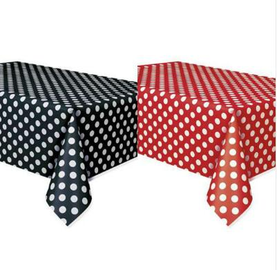 Free Shipping 5pcs Minnie Mouse Polka Dots Table Covers Red & Black Lady Bug Birthday Mickey Table Cloth