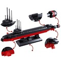 193 pçs/lote submarino Nuclear modelo montagem do enigma 3D de construção Kits brinquedos educativos para crianças