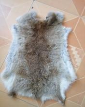 Beste Grade Natural Weiche Hase Kaninchen Haut Kaninchenfell Pelt Felle Für Schuh Kleidersack Tierfell Material Neue