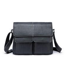 Мужской Пояса из натуральной кожи сумка-мессенджер Портфели человека из коровьей кожи косые мешок один сумка Бизнес Повседневное кожаная сумка