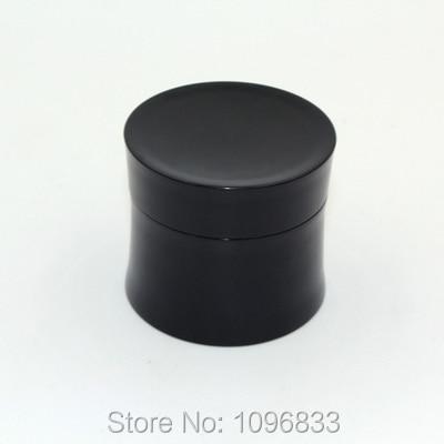 50G Empty Black Jars Tight Waist Bottle 50ml Cosmetic Plastic Box Empty Cosmetics Packing Jar 30pc