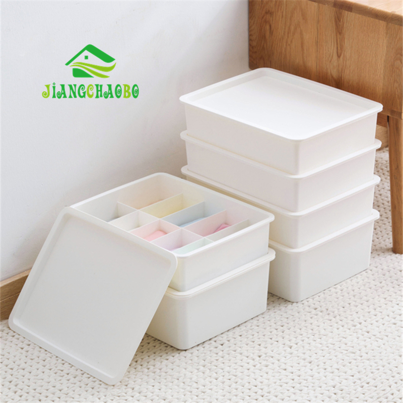 JiangChaoBo Separate Underwear Storage Box Underwear Sorting Box Drawer Socks Storage Box Home Plastic Storage Box