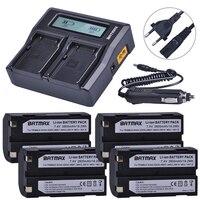 4 pièces 2600 mAh 54344 batterie Akku + Rapid LCD double chargeur pour Trimble 5700 5800  R6  R7  R8  TSC1 GPS récepteur Batteries
