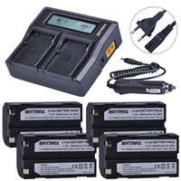 4Pcs 2600mAh 54344 Battery Akku + Rapid LCD Dual Charger for Trimble 5700,5800,R6,R7,R8,TSC1 GPS RECEIVER Batteries