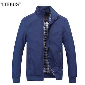 TIEPUS Solid color New 2018 Casual Jacket M-5XL 6XL 7XL Men Spring Autumn Outerwear Standing collar Business jacket man - DISCOUNT ITEM  19% OFF All Category