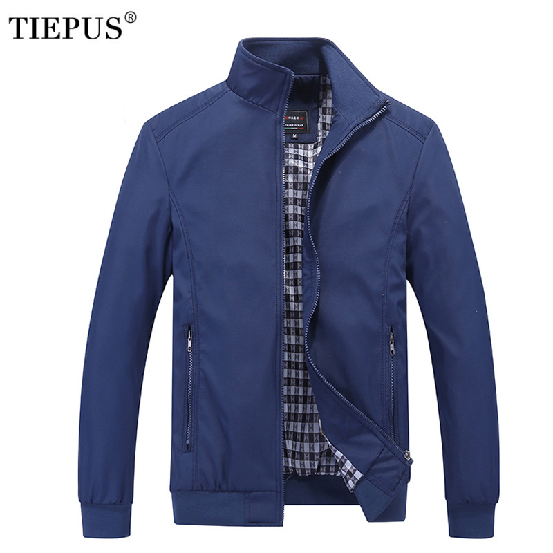 TIEPUS Solid color New 2018 Casual font b Jacket b font M 5XL 6XL 7XL Men