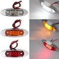 10 PCS âmbar amarelo branco vermelho à prova d ' água lado marcador luzes Clearance lâmpada caminhão reboque Bus Car 3-LED 12 V 24 V