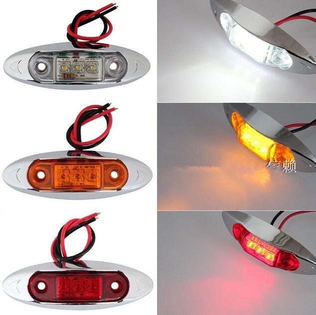 CYAN SOIL BAY 10PCS AMBER Yellow White Red Waterproof Side Marker Lights Clearance Lamp Trailer Truck Bus Car 3-LED 12V 24V сковороды winner сковорода