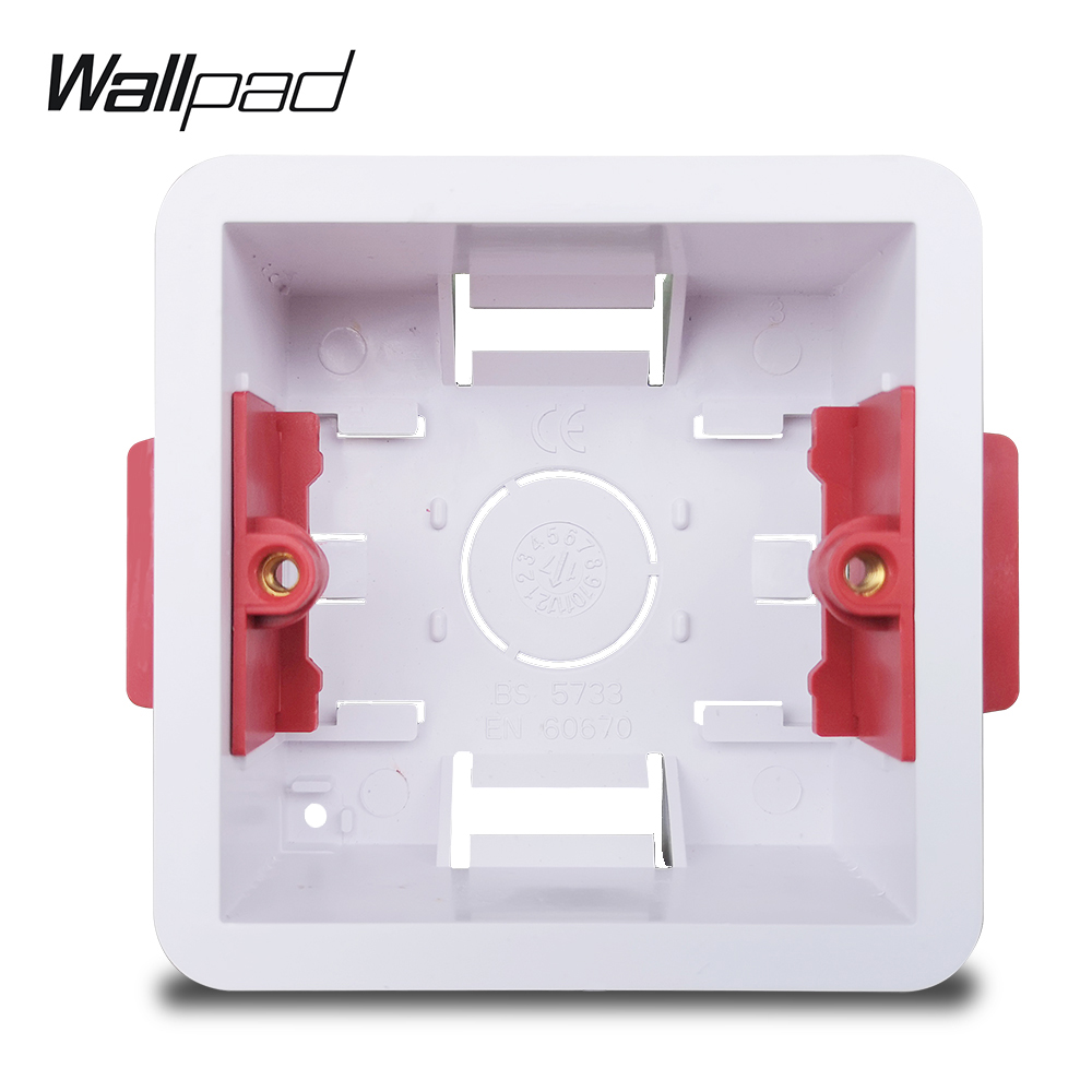 Wallpad Single Dry Lining Box For Gypsum Board Plasterboard British Standard 35mm Depth Mounting Box