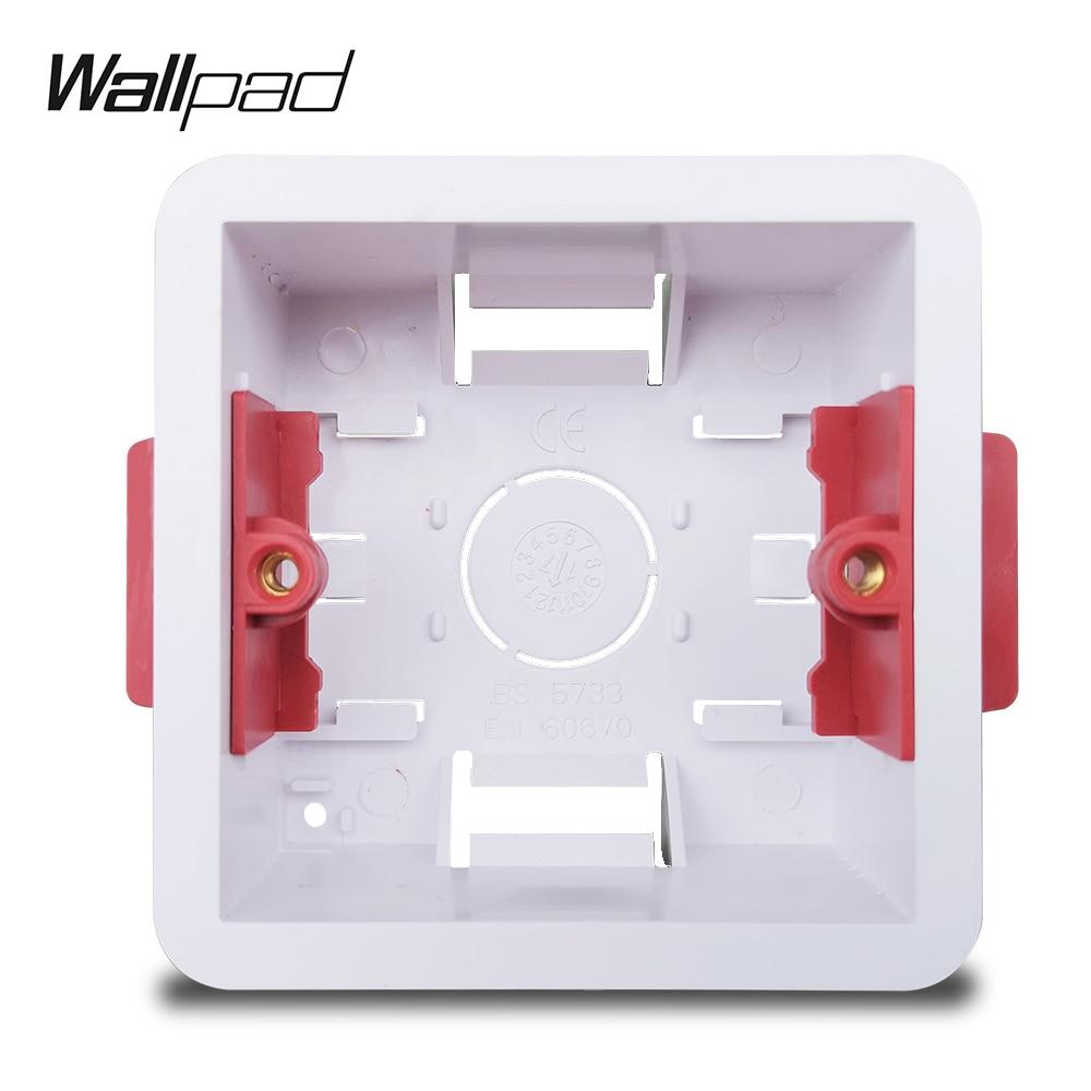 Wallpad Single Dry Lining Box For Gypsum Board Plasterboard British Standard 35mm Depth Mounting Box