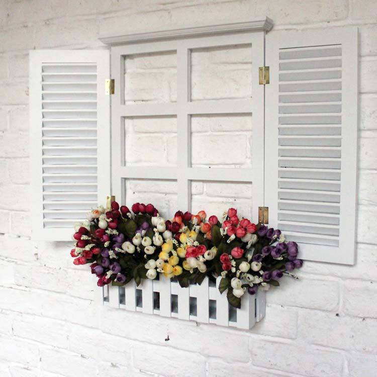 White Window Blinds Holiday Mural Fake Wall Hangings Nursery Children S Room Decor Simple Modern Wood Trim On Aliexpress Alibaba Group