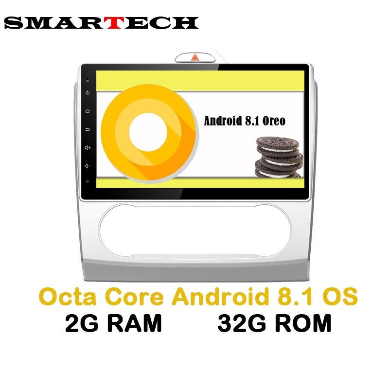 SMARTECH Octa Core 2Din Android 8 Voiture Autoradio Vidéo GPS Lecteur Pour Ford focus 2006-2011 2g RAM 32 gb IPS Écran Wifi 4g Radio