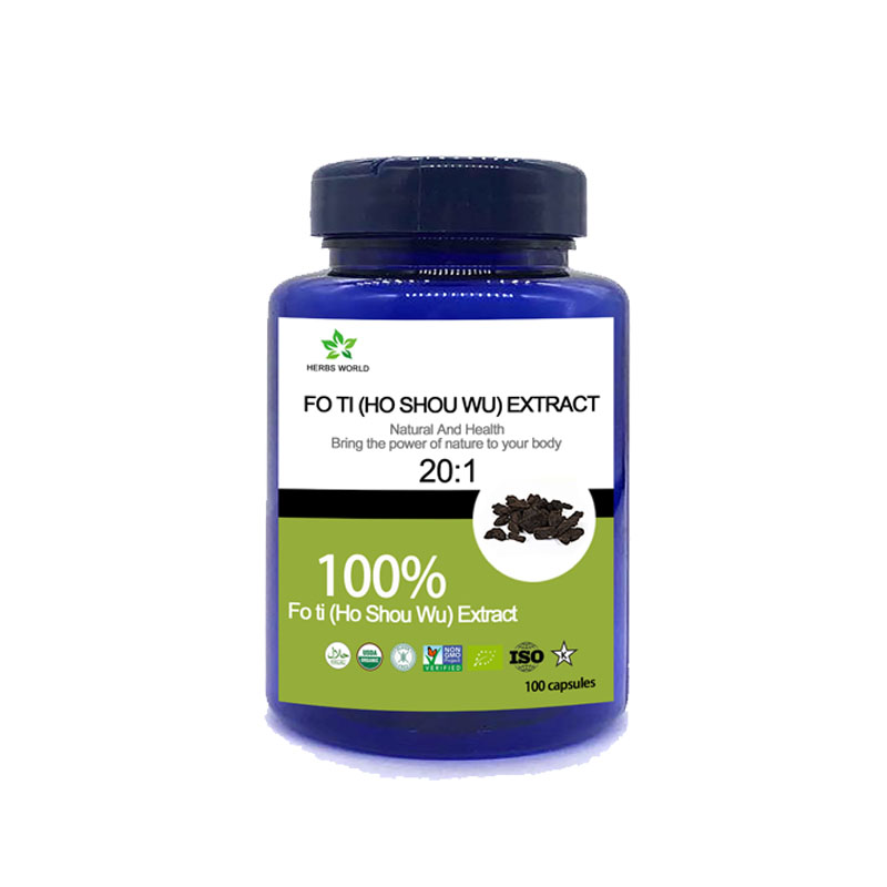 Natural  Fo Ti (Ho Shou Wu) Extract Capsules, 100% Fo Ti (Ho Shou Wu) Extract Powder 20:1
