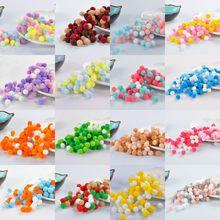 Pompons multicolores en fourrure, 8mm 10mm, bricolage doux, décoration de mariage, Pompon Artesanato, couture sur tissu, fournitures artisanales