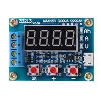 Analizador probador contador de descarga de capacidad de batería de plomo-ácido de litio de iones de litio ZB2L3