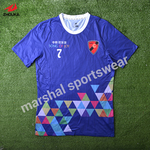 fresh style OEM sulbimation print tee shirt customized soccer team jersey any logo color design