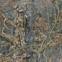 Маскировочный костюм Зеленые Листья Bionic Камуфляжный костюм в стиле милитари Охота Одежда Camo комплект куртка брюки для девочек шапки Прихва...