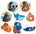 Finding Nemo Dory Juguete Del Baño Del Bebé Set de 8 Bote Pequeño Bote el sr. ray fluke destino sea otter pistolas de baño figura linda toys regalos