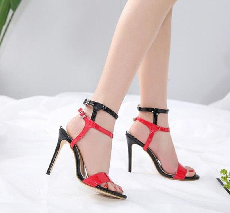 Cheville La Partie Showed Color Talons Stiletto Sandalias Couleur Chaussures Talon Bride Mixte À Sandales Mujer Femmes As qAUwvPw