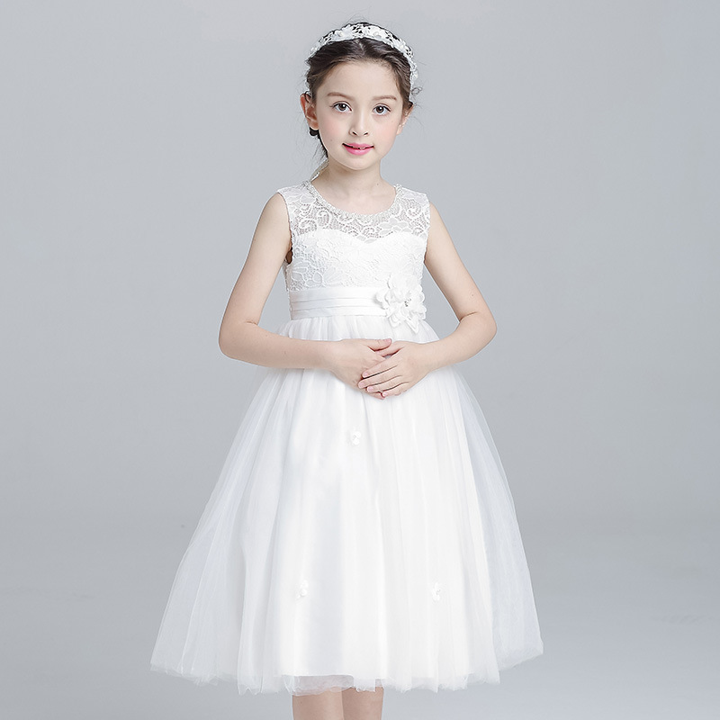 Summer Girls Wedding Dress White Children Evening Party Clothing Princess Kids Wedding Prom Teen Birthday Floral Vestido 12 Year термопот sakura sa 314rs steel red