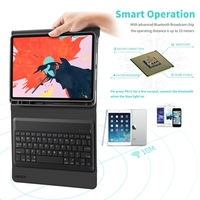 case ipad Bluetooth Keyboard Cover Case For iPad Pro 11 2018 Magnetic Wireless Keyboard Stand Case Pu Leather For iPad Air (5)