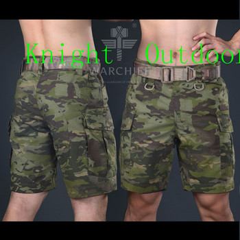 Lato Nomad wojskowe spodenki kolano długość krótki spodnie do treningu kamuflaż ripstop Kryptek szorty wojskowe lekki tanie i dobre opinie Camping i piesze wycieczki Płótno COTTON Poliester TGBS232 Mandrake Highlander Nomad Typhon Mountain M L XL XXL