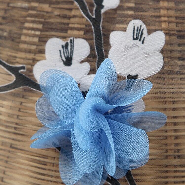 Organza Kain Kecil Floral 3D Set Bordir Kain Kain Pakaian wanita Memakai  Gaun Biru Pernikahan Disesuaikan di Kain dari Rumah   Taman AliExpress.com  ... b110e2ac53