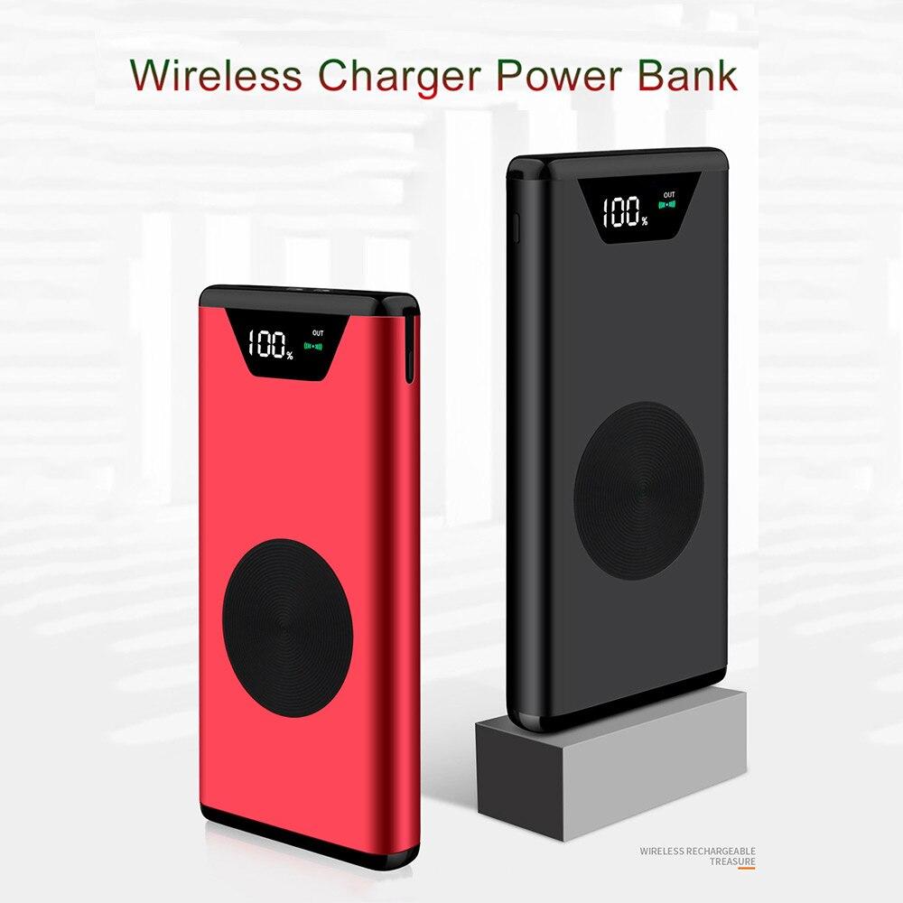 Высокая Мощность Bank 20000 mah 2 в 1 Qi Беспроводной Зарядное устройство Универсальный Портативный Мощность банка для iPhone X8 для samsung S9S8 для xiaomi купить на AliExpress
