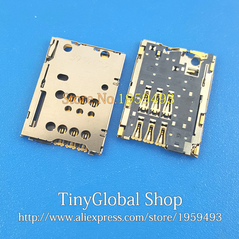 US $3 88 |2pcs/lot XGE New Sim Card Reader Socket Connector Holder Tray  replacement for Lenovo A1000 A1020 T A1010 T A1020 top quality-in Mobile  Phone