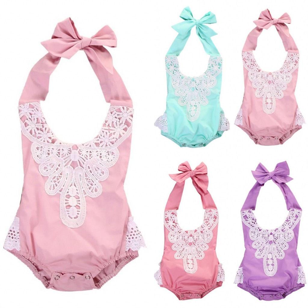 Naujagimių kūdikių kūdikių mergaičių nėrinių gėlių - Kūdikių drabužiai - Nuotrauka 3