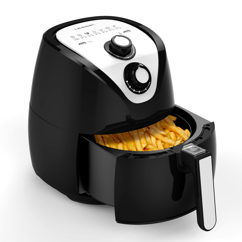 Multifunctional Electric Deep Fryer Adjustable Large Capacity Air Fryer Oil Smoke Free Chicken Fries Frying Machine Home Cooker 220v 3 2l lcd intelligent electric deep fryer oil free smokeless french fries machine for home using electric air fryer