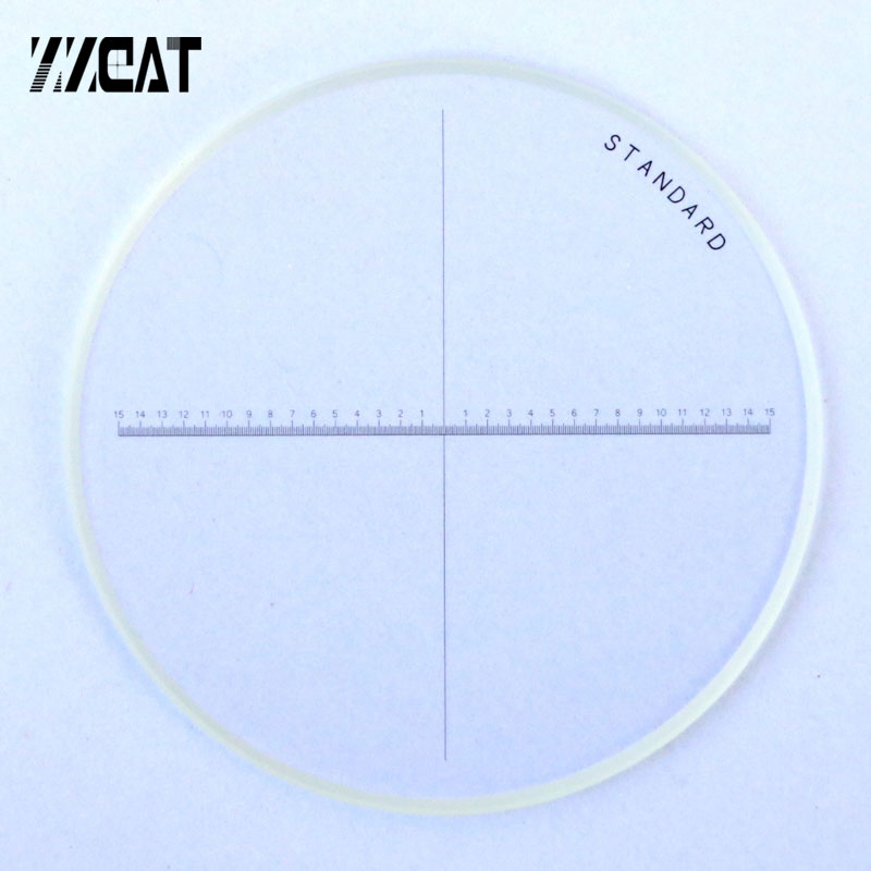 947 Diameter 35mm High Accuracy Microscope Accessory Cross Line Reticle One-Axis Reticles Optical Glass Microscope Micrometer