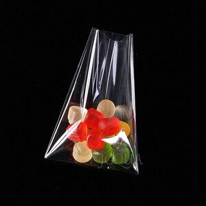 Image 5 - Bolsas de plástico transparentes abiertas para galletas, dulces, juguetes, joyas y comida, bolsa de embalaje, fiesta de cumpleaños de Navidad, bolsa de regalo de plástico de polietileno