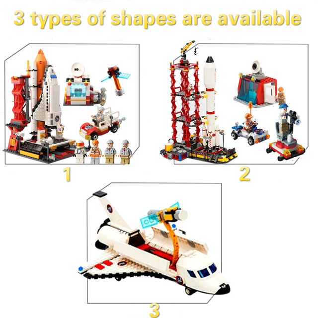 Assemblage Building Blocks DIY ABS Plastic Space Shuttle