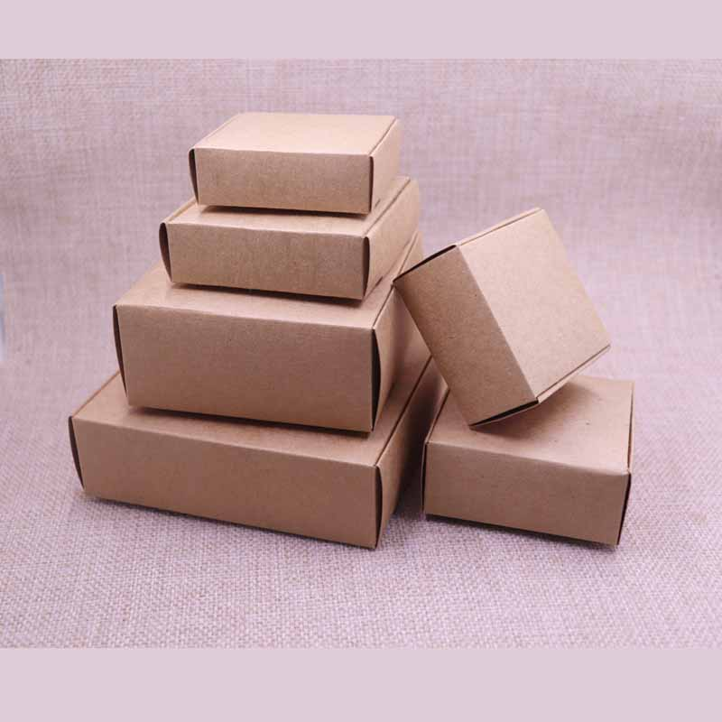 New Arrival 20pcs DIY Kraft Paper Box Gift Box For Wedding Favors Birthday Party Candy&Cake Christmas Party Gift Ideas Boxes