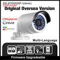 Oem ds-2cd2020f-i (4mm) orignal versión inglés hikvision ip cámara de 2mp cámara de seguridad poe onvif cámara de red p2p ip67 hik