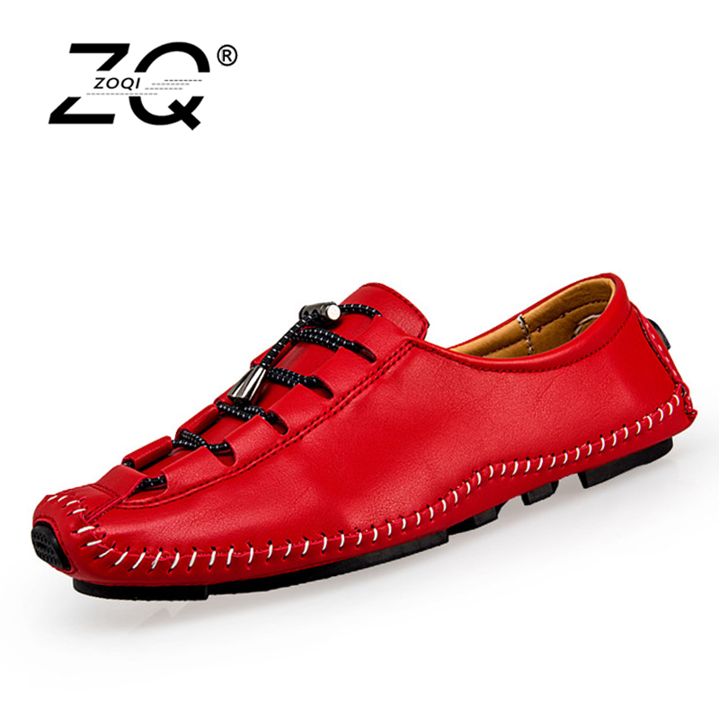 ZOQI New Shoes Men Casual Leather Shoes Men Shoes Casual 2017 In Men'S Casual Shoes Zapatillas Deportivas Hombre Big Size casual dancing sneakers hip hop shoes high top casual shoes men patent leather flat shoes zapatillas deportivas hombre 61