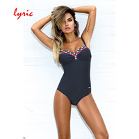 Lyric Underwire Push Up High Cut One Piece Swimsuit Backless Strappy Bathing Suit Women Swimwear Sexy