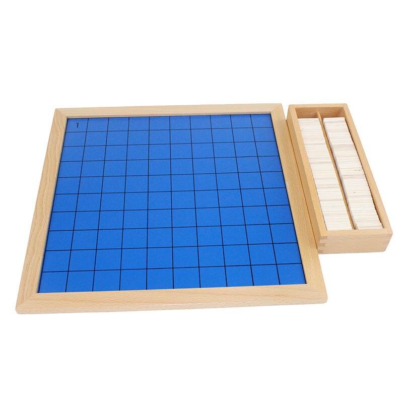 Montessori bébé jouets mathématiques apprentissage éducation jouets cent conseil mathématiques 1 à 100 numéros consécutifs avec tableau de contrôle - 4