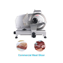 лучшая цена  Commercial Meat Slicer Electric Meat Cutter Sliceable Pork Frozen Meat Cutter Slicer Cutting Machine 110V