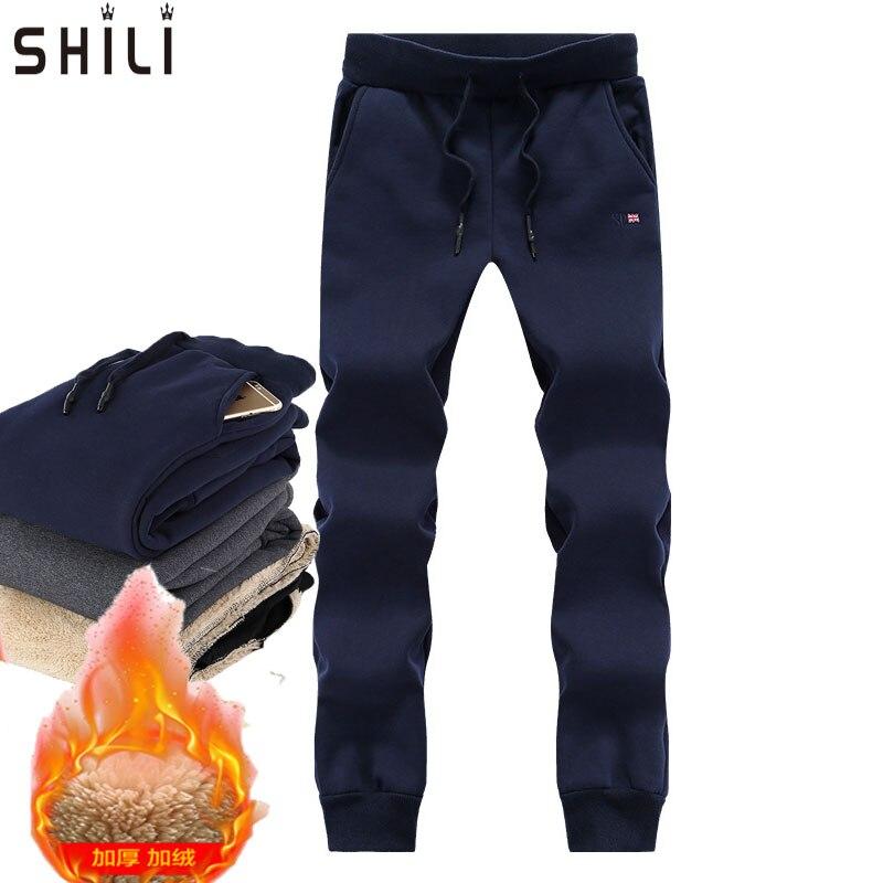 Brand 2016 Winter Men's Pants Men Thicken Velvet Warm Pants Trousers Male Waterproof Windproof sweatpants Plus Size L 8XL